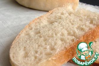 Рецепт: Простой пшеничный хлеб на закваске