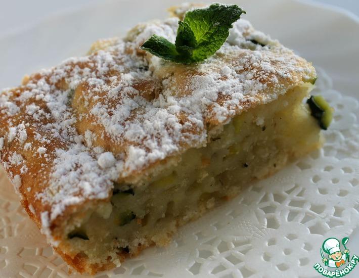 Рецепт: Итальянский влажный пирог с цуккини