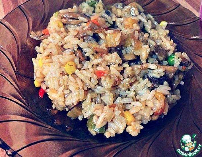 Рецепт: Китайский рис, как в коробочках