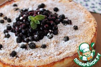 Рецепт: Пирог с творогом и черничным джемом