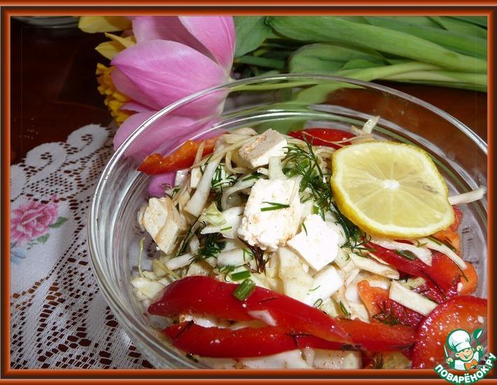 Рецепт: Салат на скорую руку из капусты