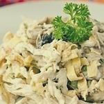 Вкусный и сытный белковый салат