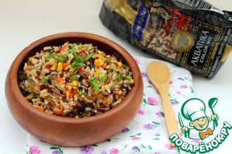 Рецепт: Цветной рис, жаренный с овощами