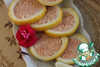 Рецепт: Фаршированный кетой лимон