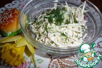Рецепт: Салат из свежей капусты с вареной колбасой