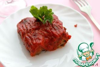 Рецепт: Фасолевые батончики, запечённые в томатном соусе