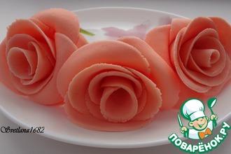 Рецепт: Роза из маршмеллоу