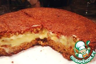 Рецепт: Кекс-пирог апельсиново-миндальный с заварным кремом