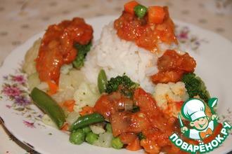 Рецепт: Рис с овощами Томатная Сказка