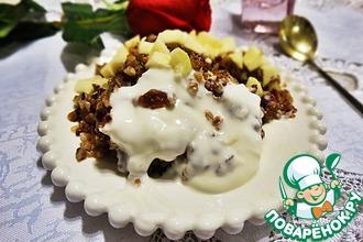 Рецепт: Гратен из гречки с орехами и сухофруктами