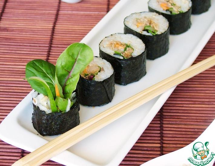 Рецепт: Корейские роллы Кимпаб