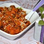 Халва из моркови с изюмом и орехами