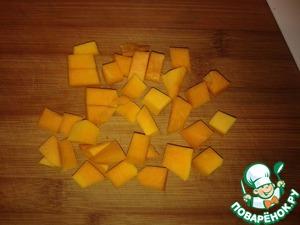 Pumpkin cut into large cubes;