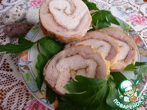 Roulade of chicken in aerogrill