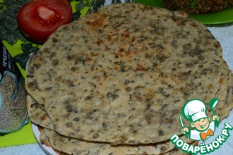 Рецепт: Бесан роти-хлеб с чечевицей по индийским мотивам