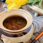 Суп из тыквы с фасолью и диким рисом