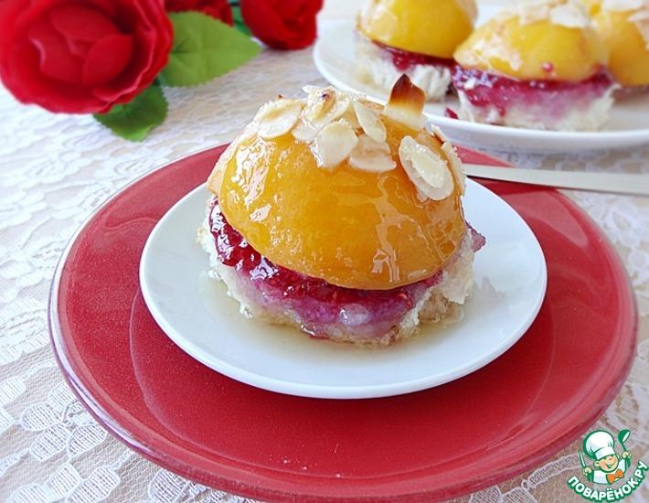 Рецепт: Фруктовый десерт Печеный персик