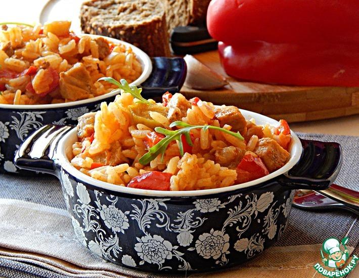 Рецепт: Рис со свининой по-сербски