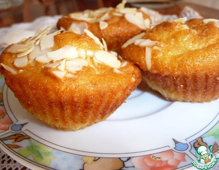 Рецепт: Апельсиновые кексики с миндалем