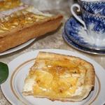 Творожный тарт Солнечный с ананасами и лимонным джемом