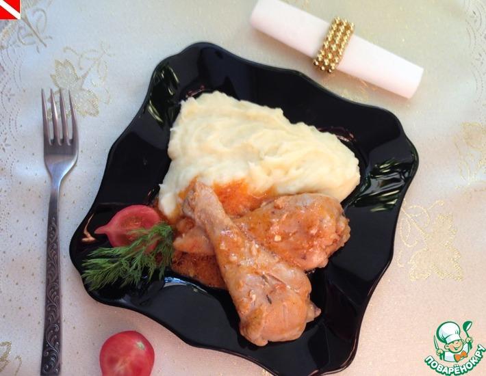 Рецепт: Курица в Молодежном соусе