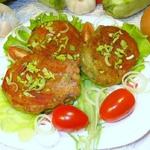 Картофельные котлеты с кабачком и с фасолевой начинкой
