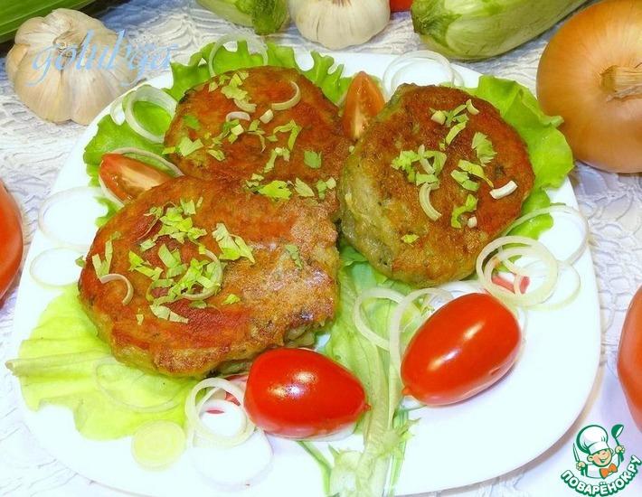 Рецепт: Картофельные котлеты с кабачком и с фасолевой начинкой
