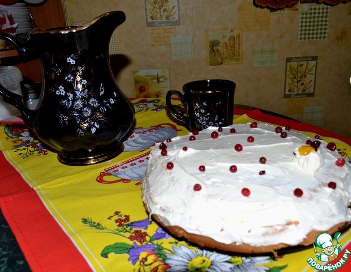 Рецепт: Сочный бисквитный торт