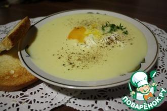 Рецепт: Крем-суп с яйцом пашот
