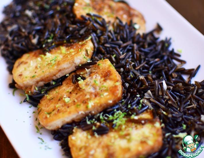 Рецепт: Дикий рис с жареным тофу