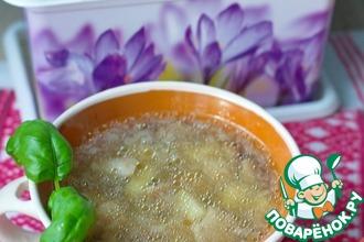 Рецепт: Суп фасолевый с белыми грибами