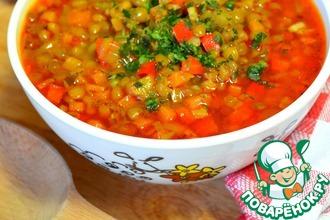 Рецепт: Постный суп с чечевицей Супа лешта