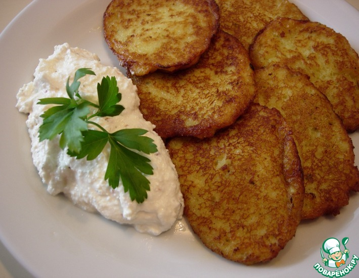 Рецепт: Картофельные оладьи Любимые