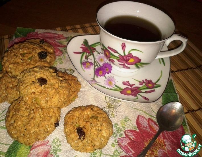 Рецепт: Печенье Здоровье с помело и кешью
