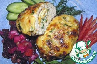 Рецепт: Мясные зразы с омлетом