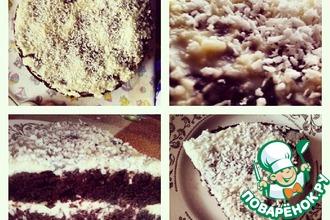 Рецепт: Шоколадно-кокосовый тортик