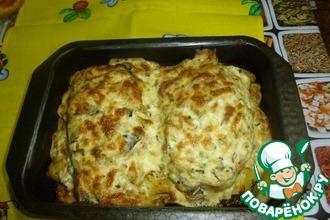 Рецепт: Рыба с картофелем под чесночным соусом