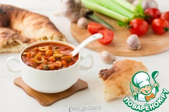 Рецепт: Густой томатный суп с нутом