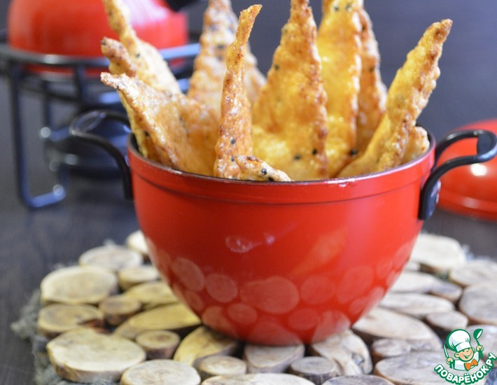 Рецепт: Нутовые хрустящие чипсы