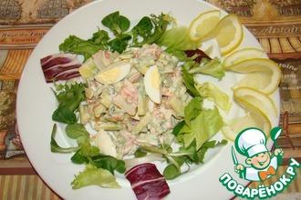Рецепт: Салат с крабовыми палочками и овощами