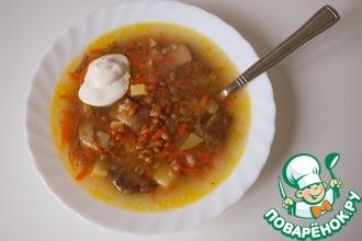 Рецепт: Грибной суп с полбой