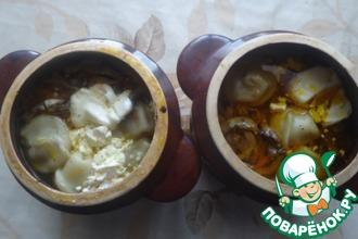 Рецепт: Пельмени в горшочке Амуры