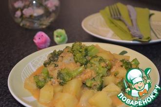 Рецепт: Картошка-карри с брокколи