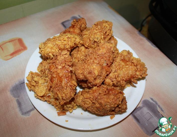 Рецепт: Острые крылышки KFC