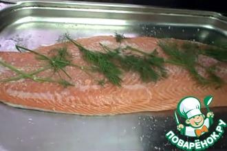 Рецепт: Засолка красной рыбы пикантным способом