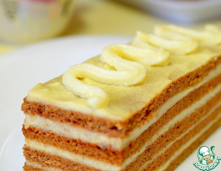Рецепт: Шоколадные пирожные с ванильным заварным кремом