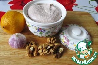 Рецепт: Постный майонезный соус Ореховка