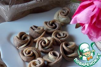 Рецепт: Печенье Банановые цветы
