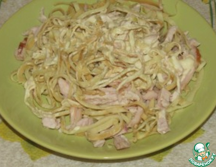 Рецепт: Салат Курочка Ряба