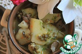 Рецепт: Тушеный картофель с машем
